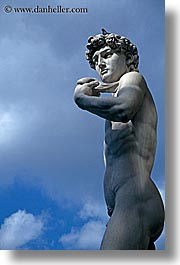 arts, david, europe, florence, italy, outside, statues, tuscany, vertical, photograph