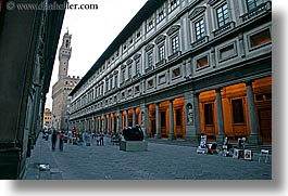 buildings, clock tower, clocks, europe, florence, horizontal, italy, museums, slow exposure, towers, tuscany, uffizio, photograph