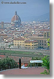 brides, cities, cityscapes, couples, europe, florence, groom, italy, men, tuscany, vertical, womens, photograph