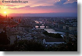 cityscapes, clouds, europe, florence, horizontal, italy, rivers, sunsets, tuscany, photograph