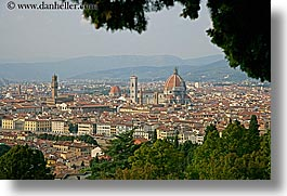 cities, cityscapes, europe, florence, horizontal, italy, trees, tuscany, photograph
