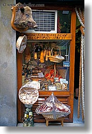 display case, europe, florence, italy, market, meats, tuscany, vertical, photograph