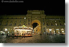 europe, florence, horizontal, italy, long exposure, merry go round, nite, tuscany, photograph