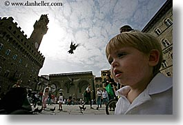 birds, boys, childrens, europe, florence, horizontal, italy, jacks, people, pigeons, toddlers, tuscany, photograph