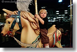boys, childrens, europe, florence, horizontal, horses, italy, jacks, merry go round, merry-go-round, nite, people, toddlers, tuscany, photograph