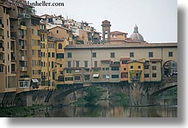 arno, bridge, europe, florence, horizontal, italy, ponte vecchio, rivers, tuscany, photograph