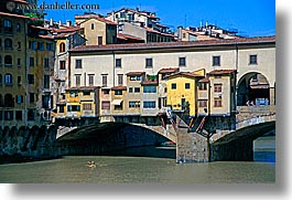 arno, bridge, europe, florence, horizontal, italy, kayaks, ponte vecchio, rivers, rowers, towns, tuscany, photograph