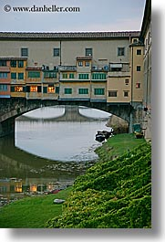 bridge, europe, florence, italy, lawn, ponte vecchio, rivers, tuscany, vertical, photograph
