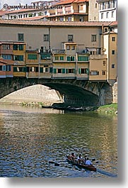 europe, florence, italy, ponte vecchio, row boat, tuscany, vertical, photograph