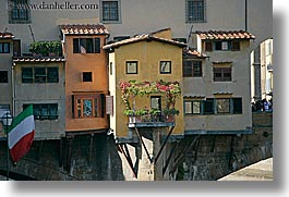bridge, europe, florence, horizontal, italy, ponte vecchio, tuscany, windows, photograph