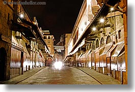 bridge, europe, florence, horizontal, italy, long exposure, nite, ponte vecchio, tops, tuscany, photograph