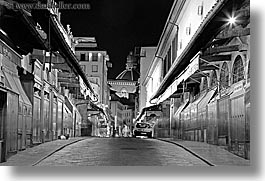 black and white, bridge, europe, florence, horizontal, italy, long exposure, nite, ponte vecchio, tops, tuscany, photograph