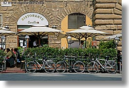 bicycles, europe, florence, horizontal, italy, streets, tuscany, photograph