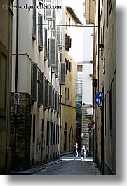 couples, europe, florence, italy, narrow, people, streets, tuscany, vertical, walk, walking, photograph