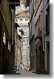 alleys, europe, florence, italy, pedestrians, streets, tuscany, vertical, walking, photograph