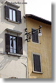 europe, florence, italy, lamp posts, tuscany, vertical, windows, photograph