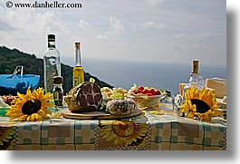 europe, foods, horizontal, italy, picnic, setting, tables, tuscany, photograph