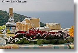 cheese, europe, foods, horizontal, italy, picnic, setting, tables, tuscany, vegetables, photograph