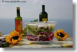 europe, foods, horizontal, italy, picnic, salad, setting, tables, tuscany, photograph