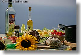 europe, foods, horizontal, italy, meats, olive oil, picnic, setting, tables, tuscany, wines, photograph