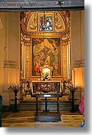 altar, churches, europe, italy, monastery, monestaries, monte oliveto maggiore, religious, tuscany, vertical, photograph