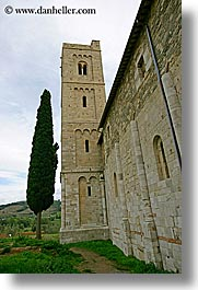 abbey, churches, europe, italy, monestaries, religious, sant antimo, sant atinimo, tuscany, vertical, photograph