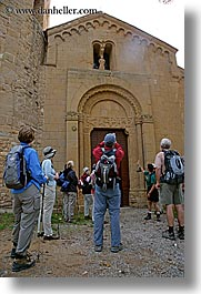 churches, europe, italy, monastery, monestaries, people, pieve di st leonardo, tourists, tuscany, vertical, photograph