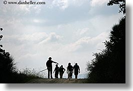 clouds, europe, hikers, horizontal, italy, people, scenics, silhouettes, tuscany, photograph
