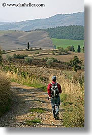 europe, hikers, italy, people, scenery, scenics, tuscany, vertical, photograph