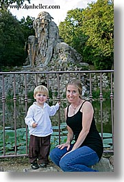 apennine, boys, childrens, demidoff park, europe, italy, jacks, mothers, statues, stones, toddlers, towns, tuscany, vertical, womens, photograph
