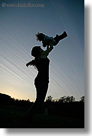boys, childrens, demidoff park, dusk, europe, italy, mothers, silhouettes, sky, sunsets, toddlers, toss, towns, tuscany, vertical, womens, photograph