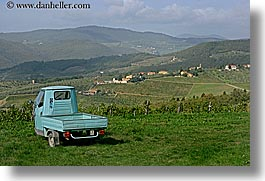 europe, fattoria lavacchio, horizontal, italy, threes, towns, trucks, tuscany, vineyards, wheels, photograph