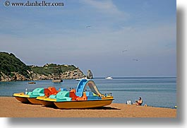 beaches, boats, colorful, europe, horizontal, isola giglio, italy, ocean, towns, tuscany, photograph