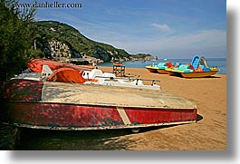 beaches, boats, colorful, europe, horizontal, isola giglio, italy, towns, tuscany, photograph