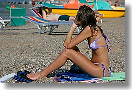 beaches, europe, girls, horizontal, isola giglio, italy, teenagers, towns, tuscany, womens, photograph