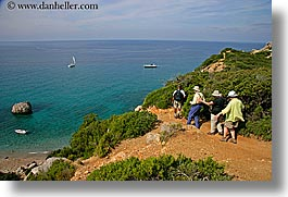 europe, hiking, horizontal, isola giglio, italy, ocean, overlook, people, scenics, tourists, towns, tuscany, photograph