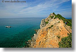 boats, europe, hiking, horizontal, isola giglio, italy, ocean, overlook, scenics, towns, tuscany, photograph