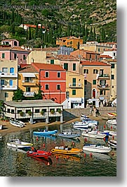 boats, europe, harbor, isola giglio, italy, ocean, towns, tuscany, vertical, photograph