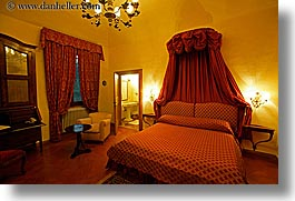 bedrooms, beds, chandelier, europe, horizontal, hotels, italy, la bandita, slow exposure, suite, towns, tuscany, villa, photograph