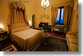 bedrooms, beds, chandelier, europe, horizontal, hotels, italy, la bandita, slow exposure, suite, towns, tuscany, villa, windows, photograph