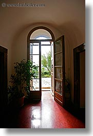 archways, doors, europe, fronts, hotels, italy, la bandita, towns, tuscany, vertical, villa, photograph