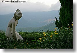 arts, europe, gardens, horizontal, italy, la bandita, sculptures, statues, stones, towns, tuscany, photograph