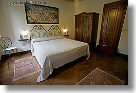 bedrooms, beds, europe, horizontal, hotel albergo giglio, hotels, italy, montalcino, slow exposure, teracotta, towns, tuscany, photograph