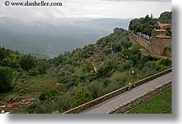 europe, horizontal, italy, landscapes, men, montalcino, roads, scenics, towns, tuscany, walk, walking, photograph