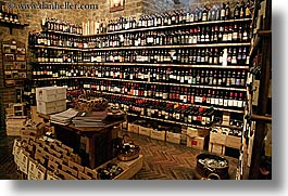 bottles, europe, horizontal, italy, montalcino, stores, towns, tuscany, wines, photograph