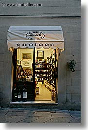 europe, italy, montalcino, slow exposure, stores, towns, tuscany, vertical, wines, photograph
