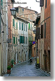 cobblestones, europe, italy, montalcino, people, streets, towns, tuscany, vertical, walking, photograph