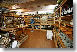 cheese, europe, horizontal, italy, men, pienza, stores, towns, tuscany, photograph
