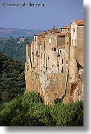 cities, cityscapes, europe, italy, old, pitigliano, towns, tuscany, vertical, walls, photograph