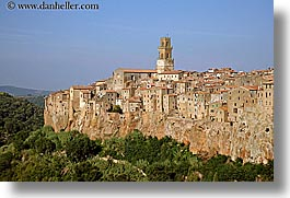 cities, cityscapes, europe, horizontal, italy, old, pitigliano, towns, tuscany, photograph